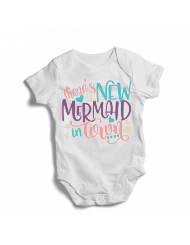 There's new mermaid in town, baby bodysuit