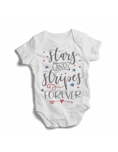 Stars and stripes forever, baby bodysuit