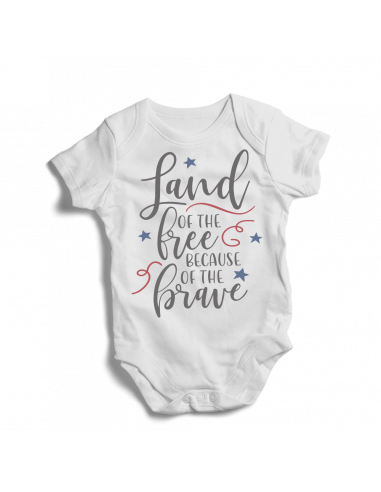 Land of the free because of the brave, baby bodysuit