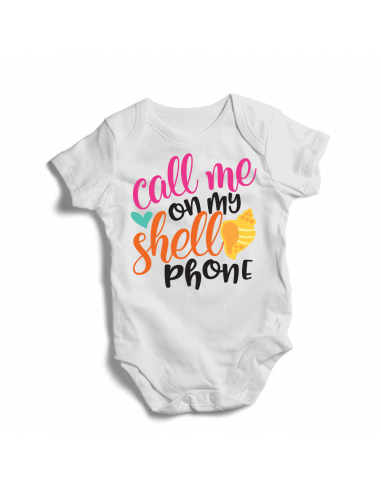 Call me on my shell phone, baby bodysuit