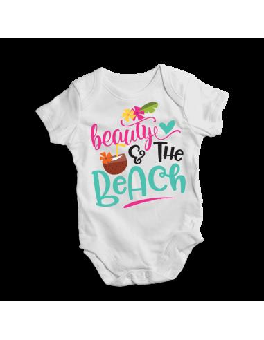 Beauty & the beach, baby bodysuit