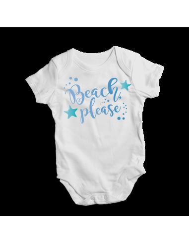 Beach please, baby bodysuit