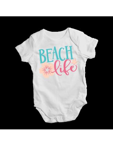 Beach life, baby bodysuit