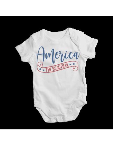 America the beautiful , baby bodysuit
