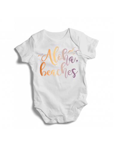 Aloha beaches, baby bodysuit