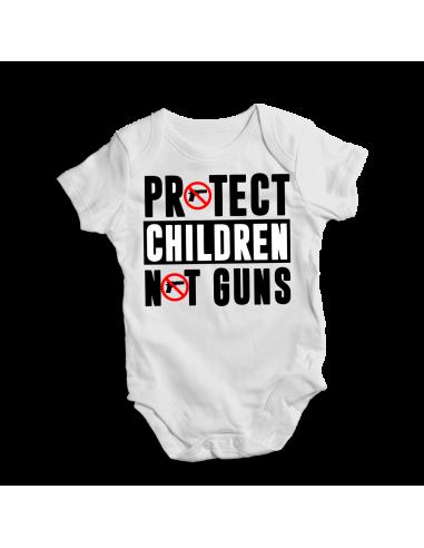 Protect children not guns, baby safety onesie