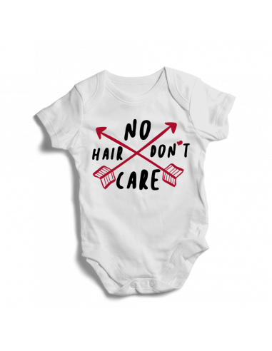 No hair don't care, baby bodysuit