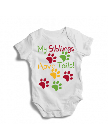 My Siblings have tails, baby bodysuit