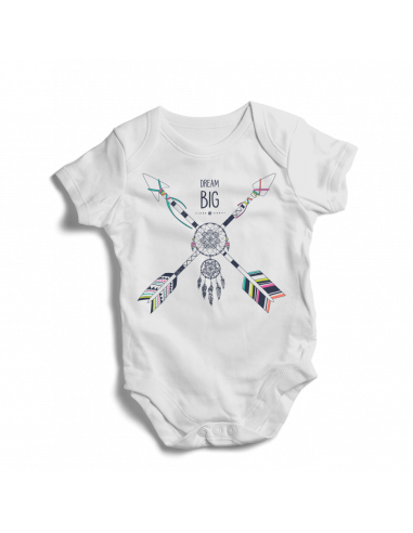 Dream big, boho style, baby bodysuit