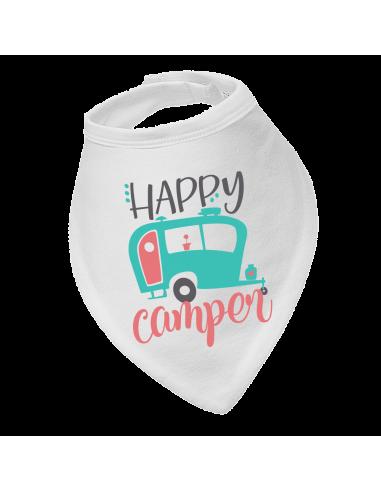 Baby bandana bib Happy camper