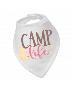 Baby bandana bib camp life