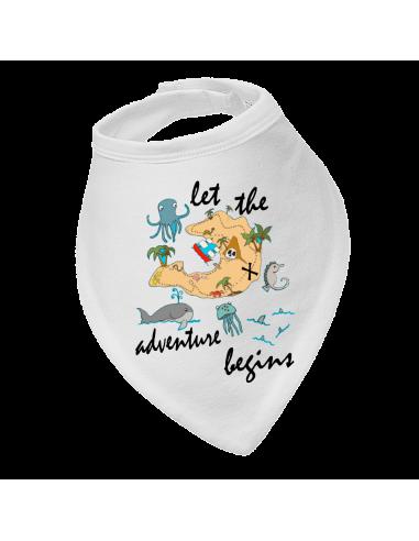 Baby bandana bib Let the adventure begins