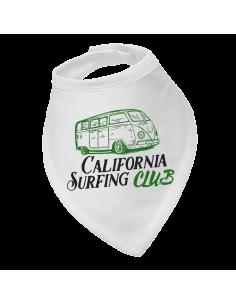 Baby bandana bib California surfing club