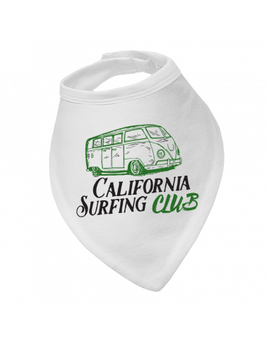 Baby bandana bib California surfing club