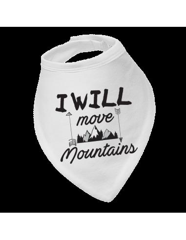Baby bandana bib I will move mountains