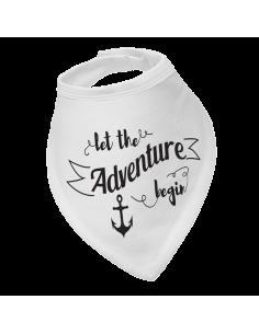 Baby bandana bib Let the adventure begin