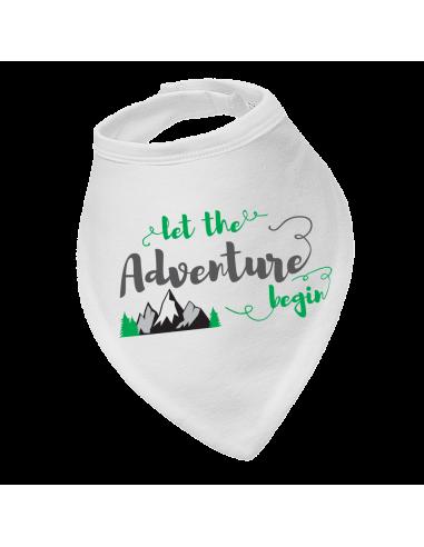 Baby bandana bib  Adventure begin