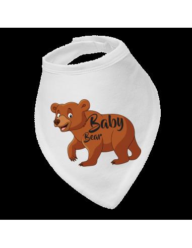 Baby bandana bib Baby bear