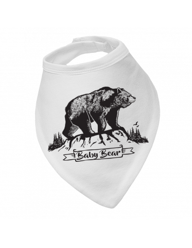 Baby bandana bib Black baby bear