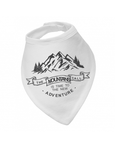 Baby bandana bib the mountains are calling