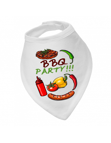 Baby bandana bib BBQ party