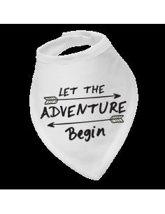 Bandana bib Let the adventure begin