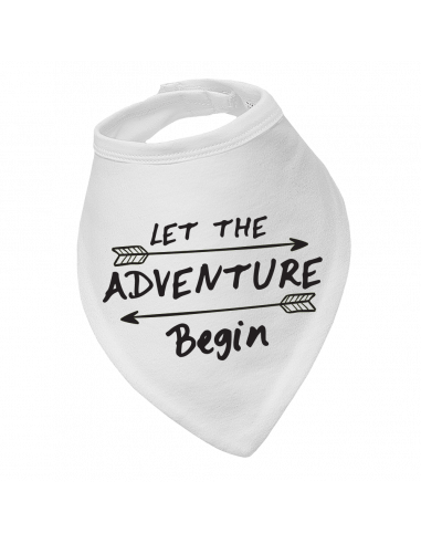 Bandana bib Let the adventure begin
