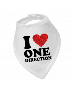 Baby bandana bib I love One Direction