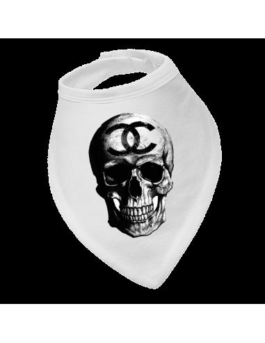 Baby bandana bib Gucci skull