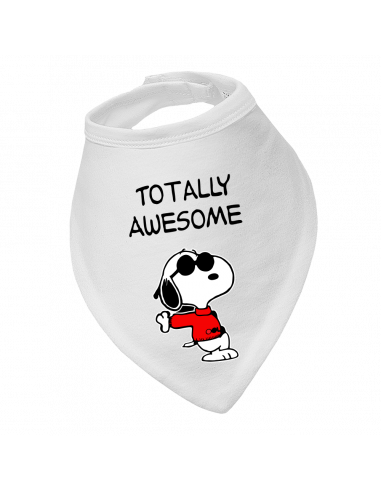 Baby bandana bib Totally Awesome