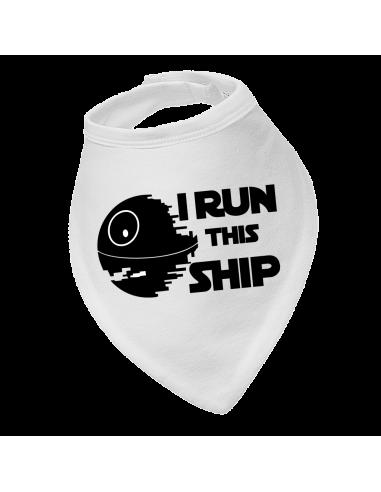 Baby bandana bib Star Wars I run this ship