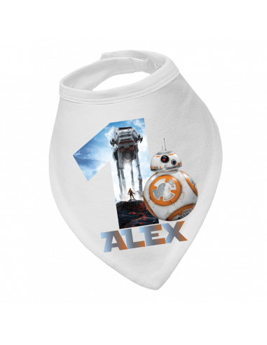 Baby bandana bib Personalised Star wars