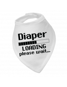 Baby bandana bib Diaper loading, please wait