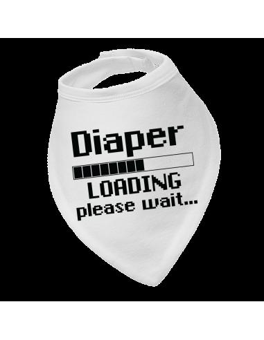 Baby bandana bib Diaper loading, please wait