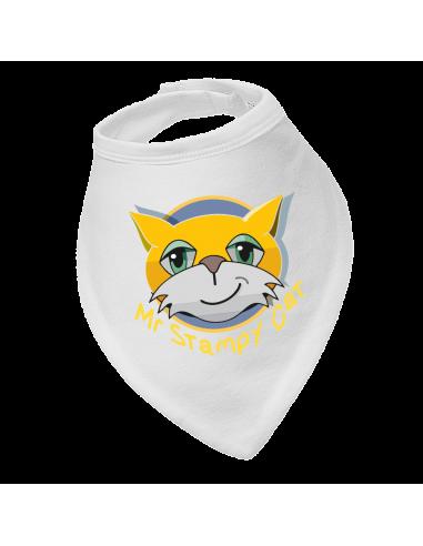 Baby bandana bib Mr Stampy Cat