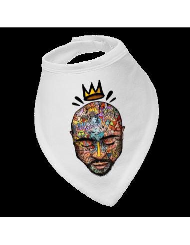 Baby bandana bib Tupac King