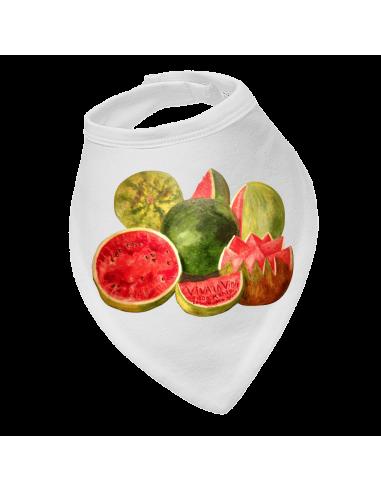 Baby bandana bib Viva La Vida watermelons