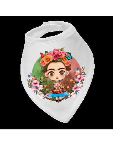 Baby bandana bib Viva La Vida Frida Kahlo Flowers