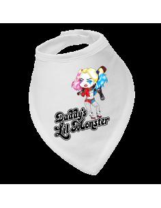 Baby bandana bib Daddy's Lil Monster