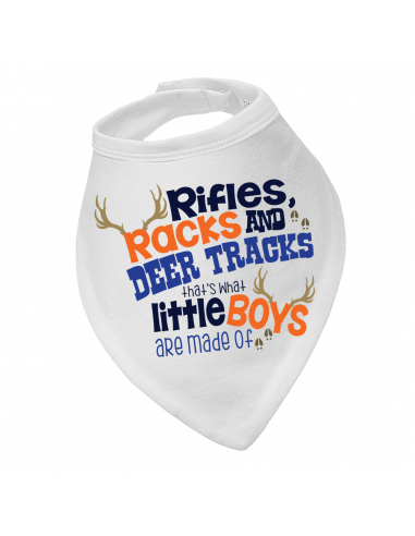 Baby bandana bib Rifles Racks And Deer Tracks