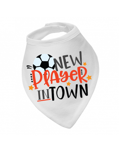 Baby bandana bib Soccer New Player In Town