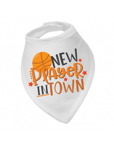 Baby bandana bib Basketball New Player In Town