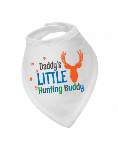 Baby boy bandana bib Daddy's Little Hunting Buddy