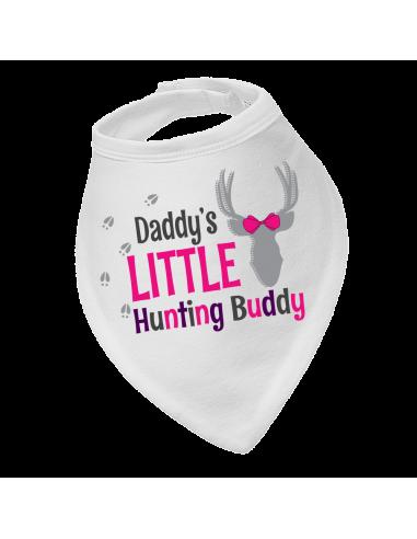 Baby girl bandana bib Daddy's Little Hunting Buddy