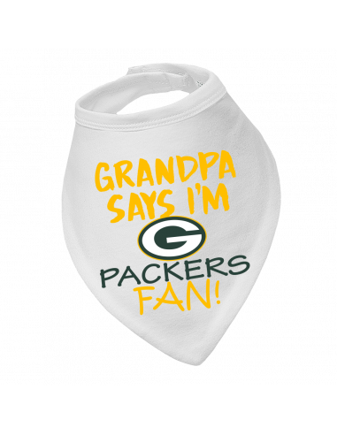 Baby bandana bib Grandpa says I'm Packers fan!