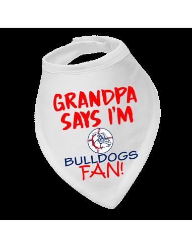 Baby bandana bib Grandpa say's I'm Georgia Bulldogs fan!