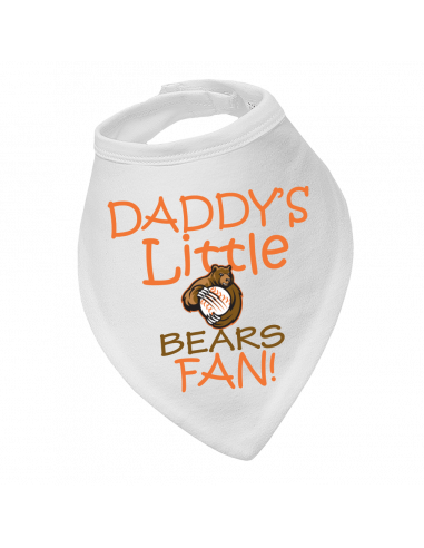 Baby bandana bib Daddy's Little Chicago Bears Fan!