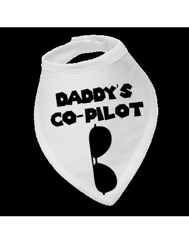 Baby bandana bib Daddy's Co Pilot