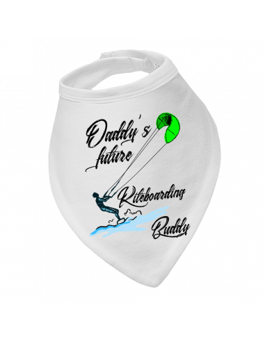 Baby bandana bib Daddy's Future Kiteboarding Buddy new design