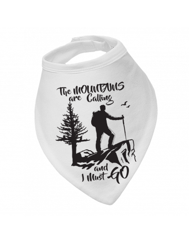 Baby bandana bib Mountains Are Calling and I Must Go